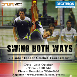 Swing Both Ways - Indoor Cricket Tournament