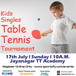 Tenvic Presents Kids Table Tennis Tournament