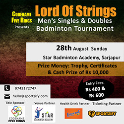 Lord Of Strings - Men's Singles & Doubles Tournament