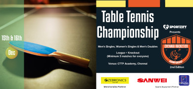 Chennai Racketier Table Tennis Championship - 2nd Edition